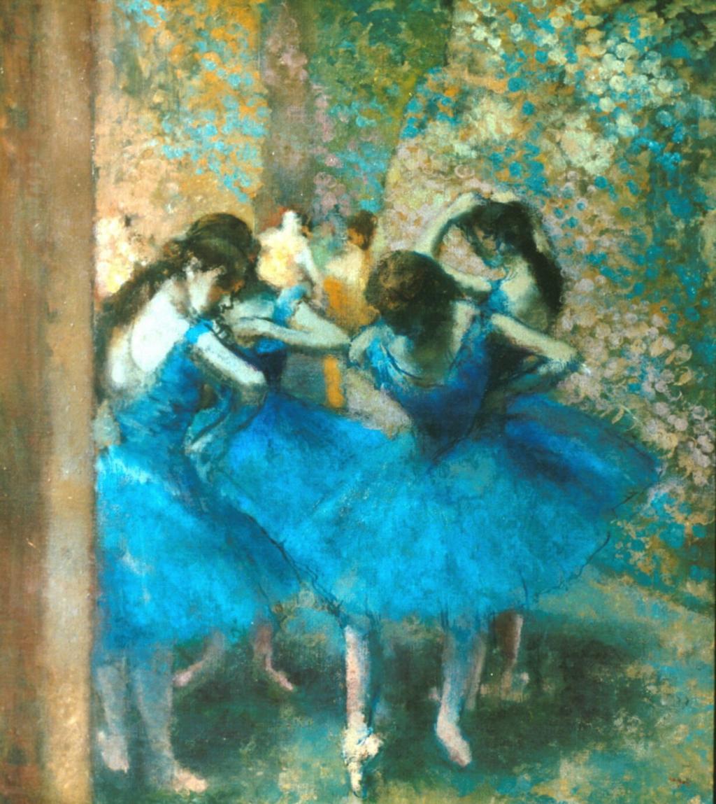 Degas ballerine blu