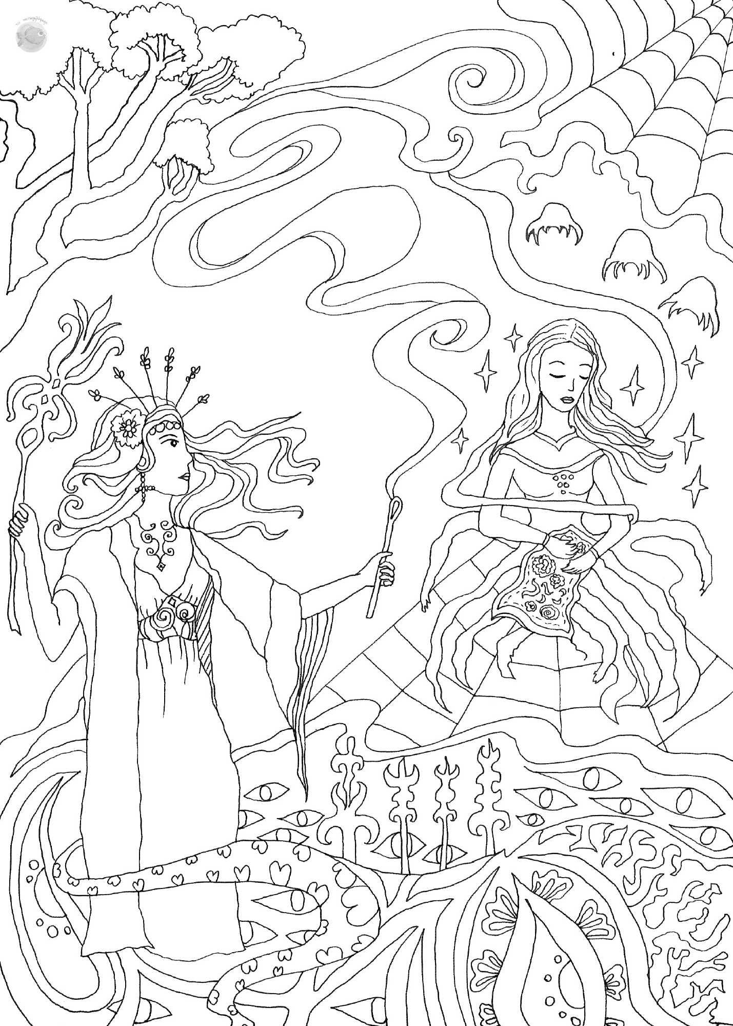ο μύθος της Ταραντούλας - Σχέδιο
